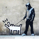 Thumb banksy choose your weapon keith haring dog by banksy